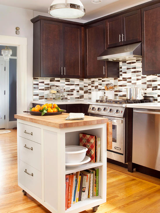 Attractive Extra Small Kitchen Ideas Part - 13: Small-Space Island Ideas