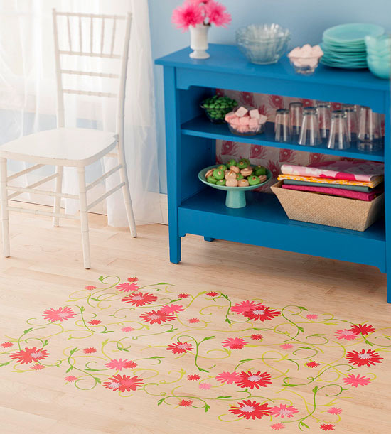 DIY Floral Floor Stencil Download
