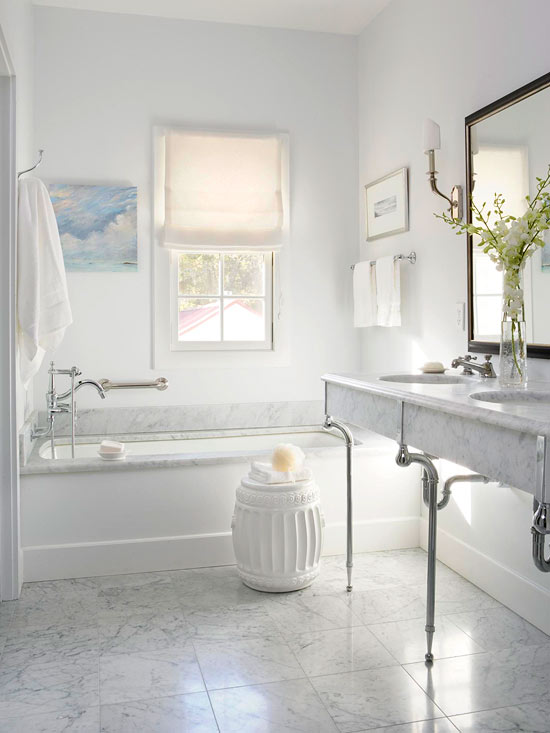 Elegant master bath makeover for Elegant small bathrooms