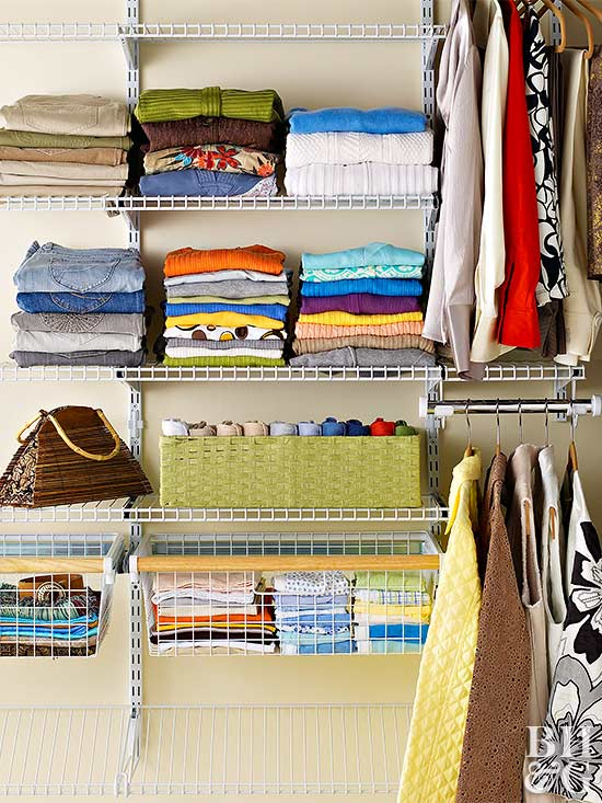 Wire Closet Organizers Look Nice And Streamline Walk In Storage They Are Also A Good Way To Let Clothes Breathe
