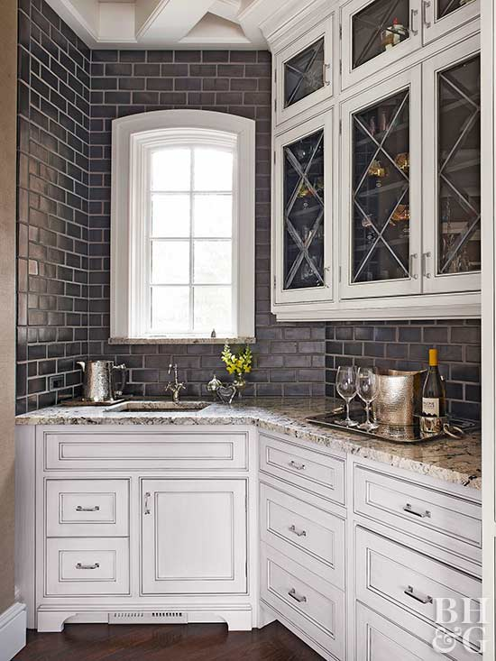 Plan the perfect butler 39 s pantry better homes and for Kitchen designs with butler pantry