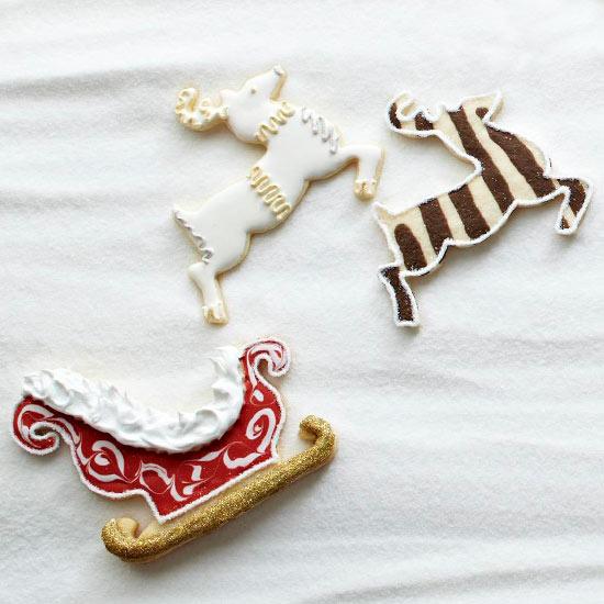 Santa's Sleigh Sugar Cookies