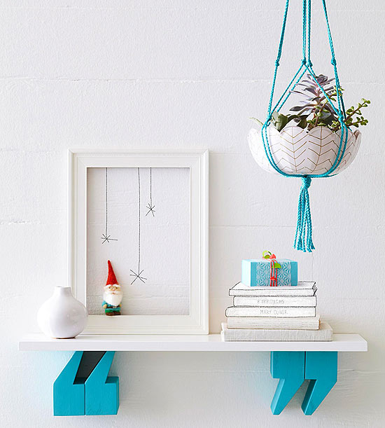 Build a Quotation Mark Shelf