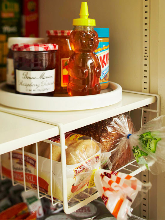 Organise your Pantry with under shelf storage for bread