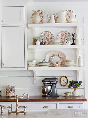 Attractive Creative Ways To Store Dishes