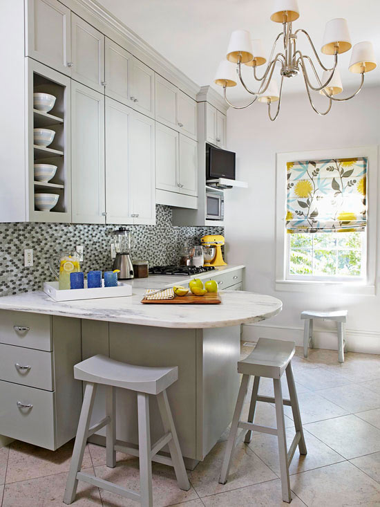 Small kitchen makeover with paint for Bhg kitchen design