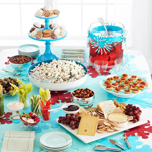 Party Appetizers Should Be Fun Easy To Eat And Encourage Mingling This Holiday Appetizer Table Features A Variety Of Sweet Savory Snacks