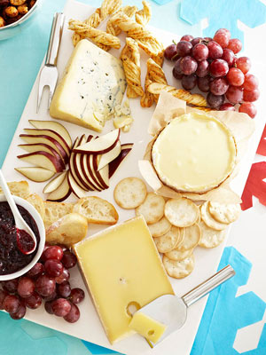 Host an appetizers only dinner party finger food ideas more serve an assortment of breads crackers cheeses and fruit for easy party appetizers forumfinder Choice Image