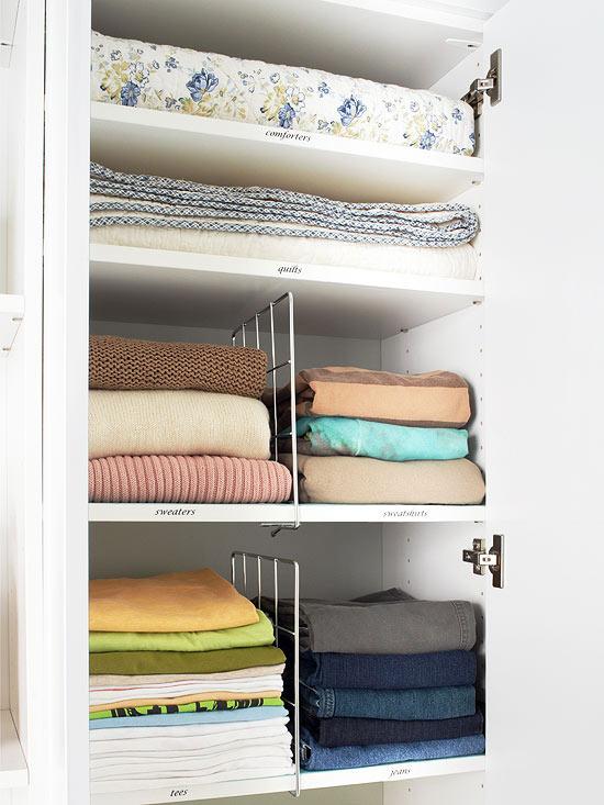 Divide U0026 Conquer. Wire Closet Dividers Are Essential For Small Closet  Organization.