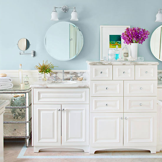 White bathroom vanity designs - Small cottage style bathroom vanity design ...