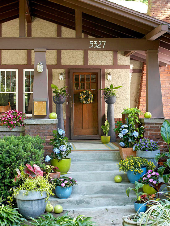 Craftsman style home ideas for Entryway garden designs