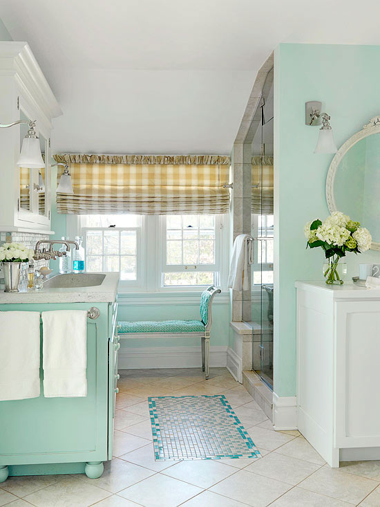 Interior Cottage Bathroom beachy cottage bathroom makeover sea inspired palette