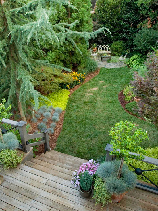 Easy landscaping ideas for Small lawn garden ideas