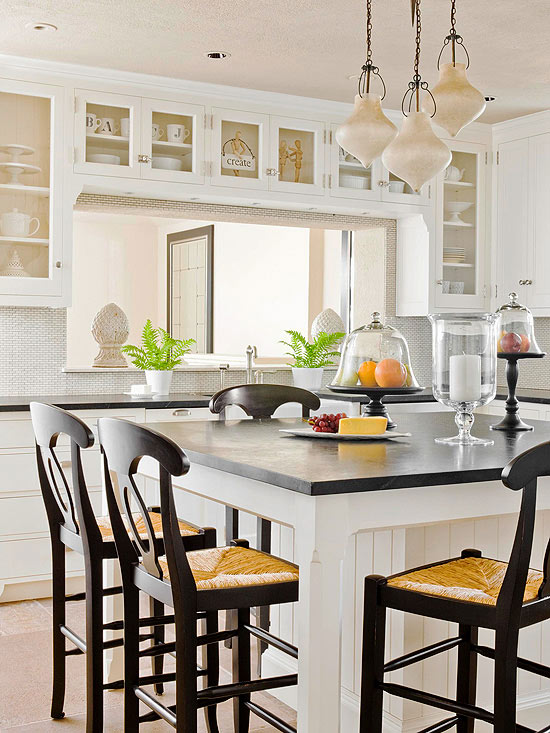 Kitchen islands with seating for Dining table overhang