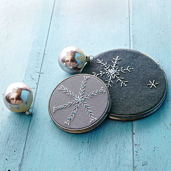 Midnight Snowflakes Embroidery