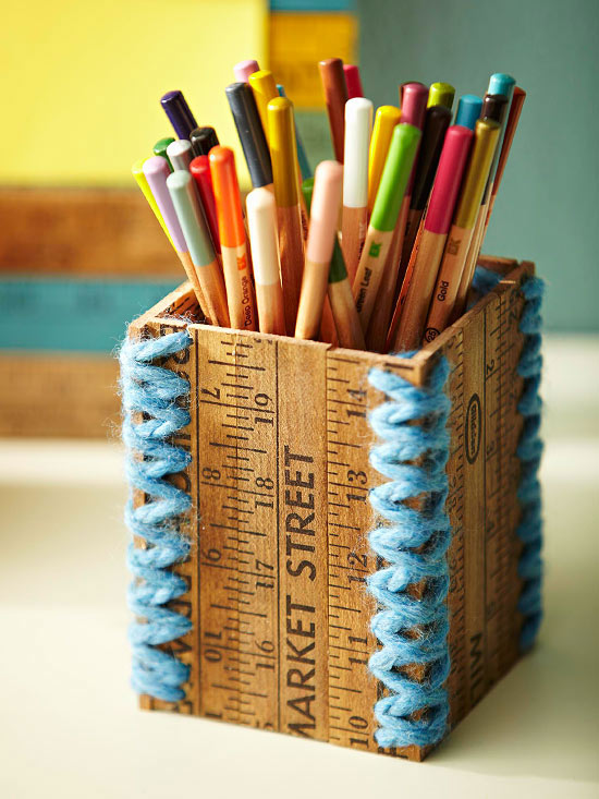 Yardstick Pencil Cup