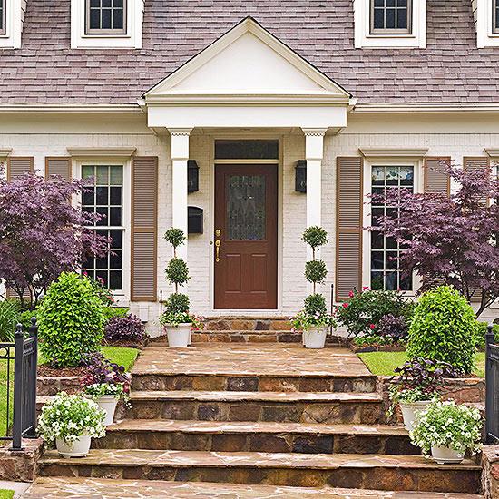 Dark front door colors - Chestnut brown exterior gloss paint ...