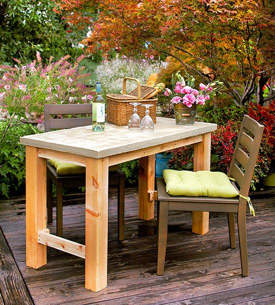 Diy Outdoor Concrete Table