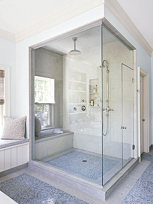 Generally, Building A Walk In Shower Requires Gutting Walls To Access  Plumbing Pipes, Applying Waterproof Poly Sheeting To The Walls And Floor,  ...