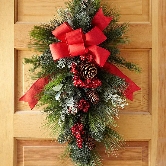 how to make a swag wreath - How To Make A Christmas Wreath