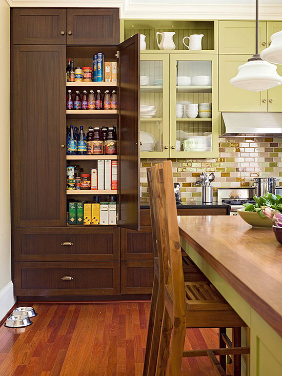 Kitchen pantry design ideas better homes and gardens for Kitchen pantry ideas