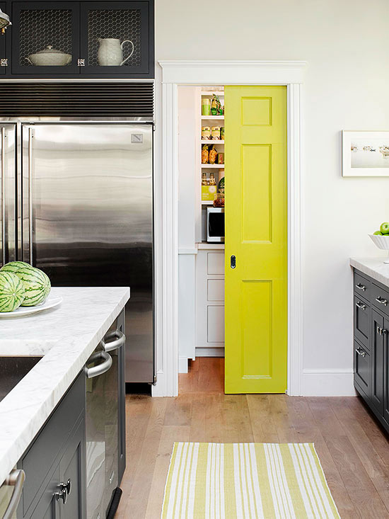 Fun Ways to Dress Up a Pantry Door | Better Homes & Gardens Ideas For Kitchen Pantry Pocket Door on ideas for kitchen cabinets, ideas for kitchen room dividers, ideas for kitchen barn doors, ideas for kitchen shelving, ideas for kitchen sinks, ideas for kitchen pantry storage, ideas for kitchen pantries, ideas for kitchen table tops, ideas for kitchen windows, ideas for kitchen backsplashes, ideas for kitchen signage, ideas for kitchen island, ideas for kitchen bars,