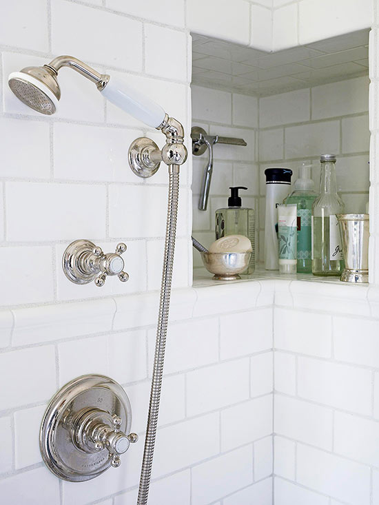 small bathroom storage ideas. Nice Niche Bathroom Storage Ideas  Better Homes and Gardens BHG com