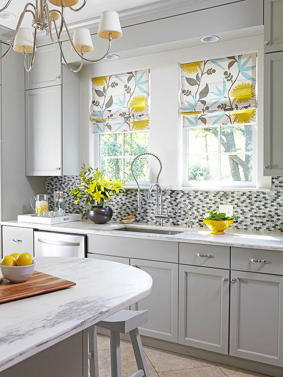 Black White And Yellow Kitchen Dream House