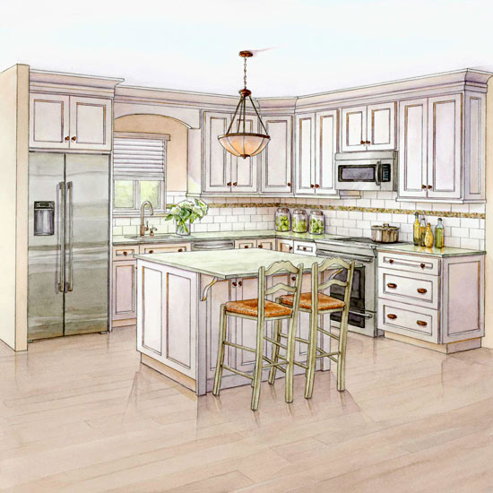 White Kitchen Remodeling Costs