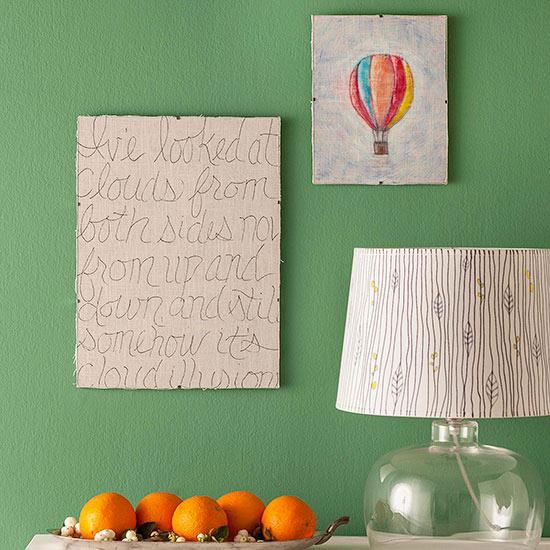 DIY Blended-Tone Marker Wall Art