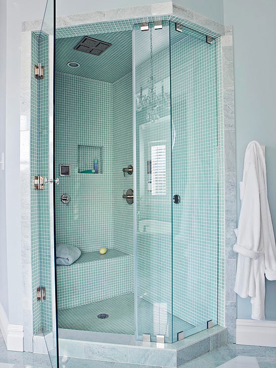 Small bathroom showers Bathtub showers for small bathrooms