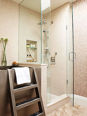 A glass enclosure makes any shower feel roomier by opening up the view and  allowing in sunlight. It can also make a small bath appear larger because  the ...