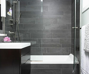 When there isn't space available for a separate tub and shower and you  absolutely must have a tub, consider a tub-shower combination.