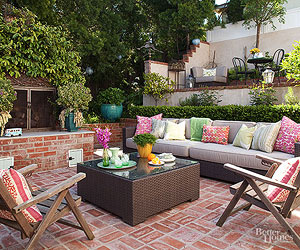 Great Patio Furniture Brings Comfort And Function To Your Outdoor Spaces.  With A Spacious Table And Easy To Use, Comfortable Chairs A Basic Brick  Patio Is ...