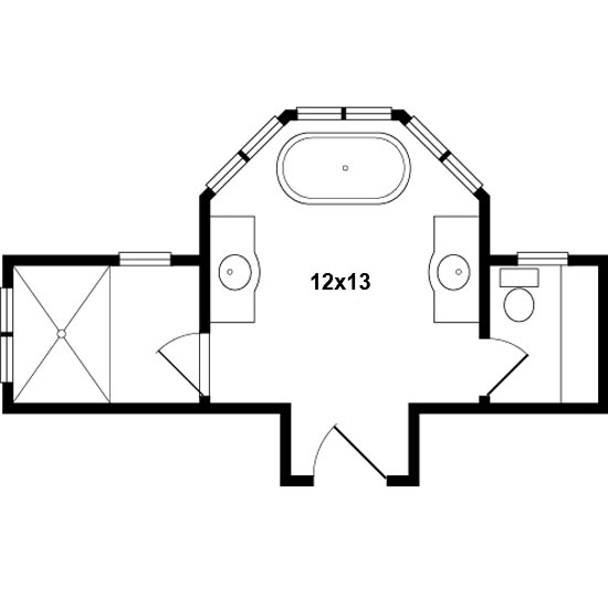master bath floor plans - Bathroom Remodel Layout