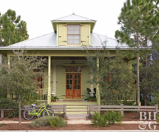 Best exterior house color schemes - Sage green complementary colors ...