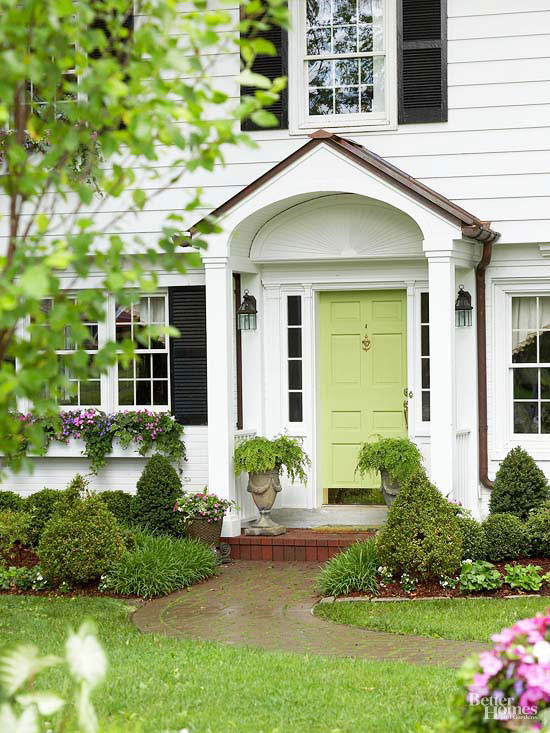 Traditional front doors for Small house front door ideas