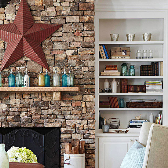 Rustic Fireplace Mantel Ideas
