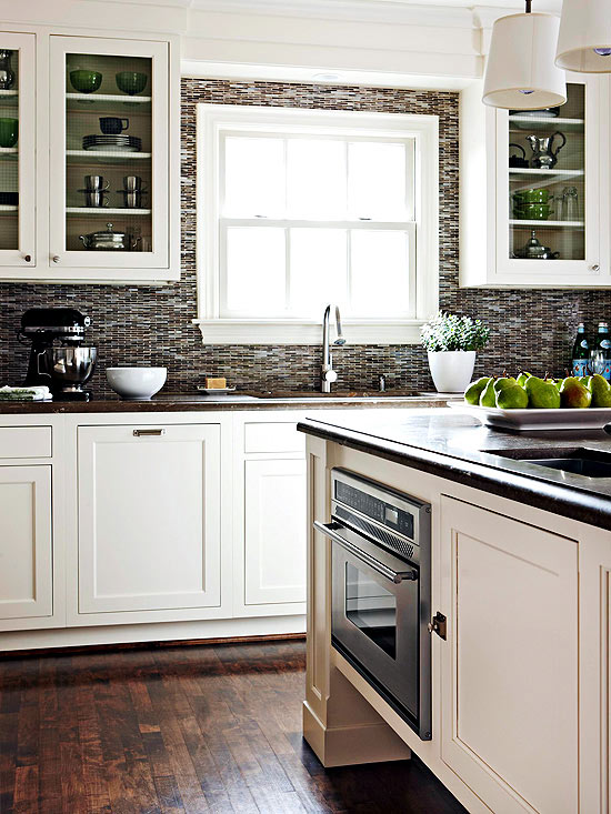 Contrasting Kitchen