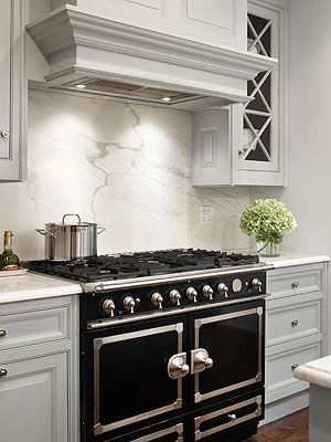 Kitchen Stove Backsplash Idea #3: Granite or Marble