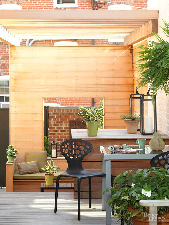 Small + Simple Outdoor Living Spaces on Small Backyard Living Spaces id=78902