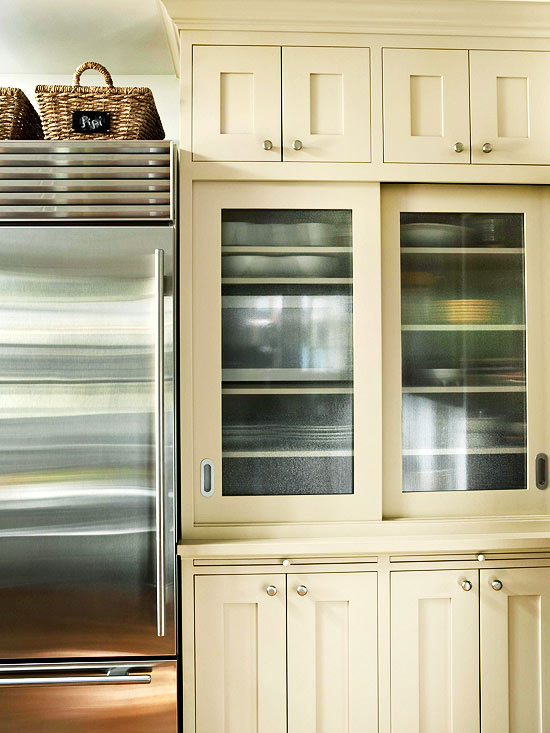 Fluted  Or Reeded Glass Cabinet Doors