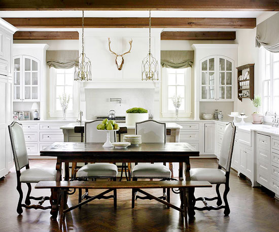what color kitchen table with white cabinets refined rustic 28238