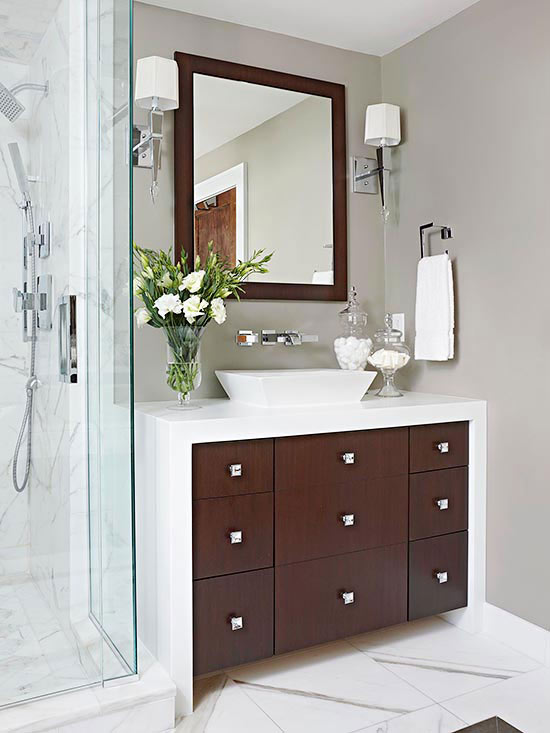 Modern Master Bathroom Ideas Red And Black: Modern Master Bathroom Makeover