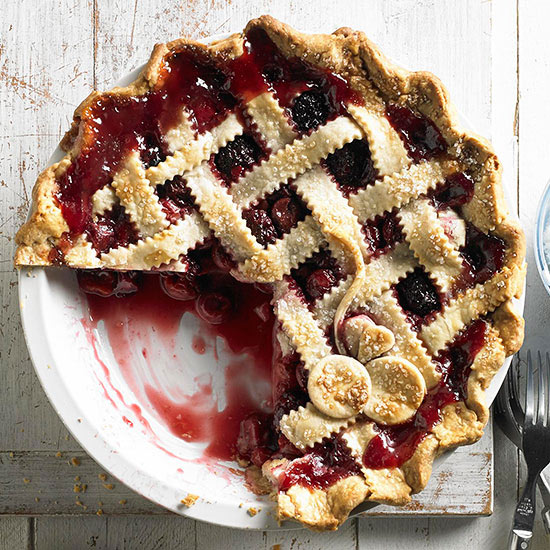 Cherry berry pie for Better homes and gardens pie crust