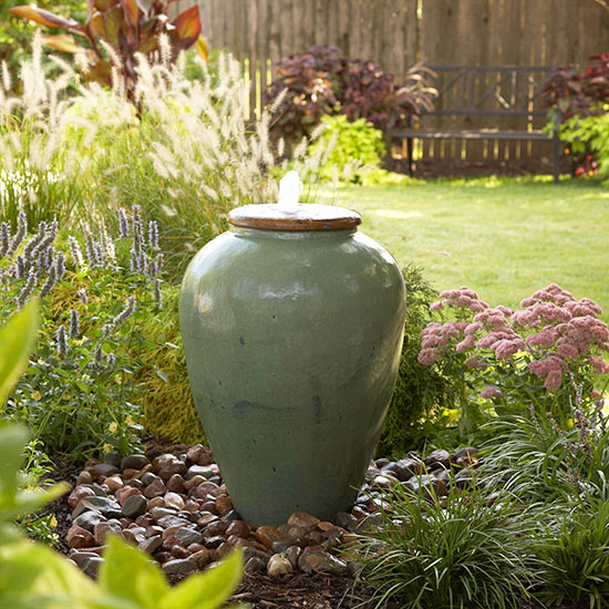 Diy outdoor fountain for How to make an outdoor fountain