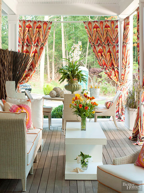 Better Homes And Gardens Decorating Ideas Decor fabric makeovers for outdoor rooms