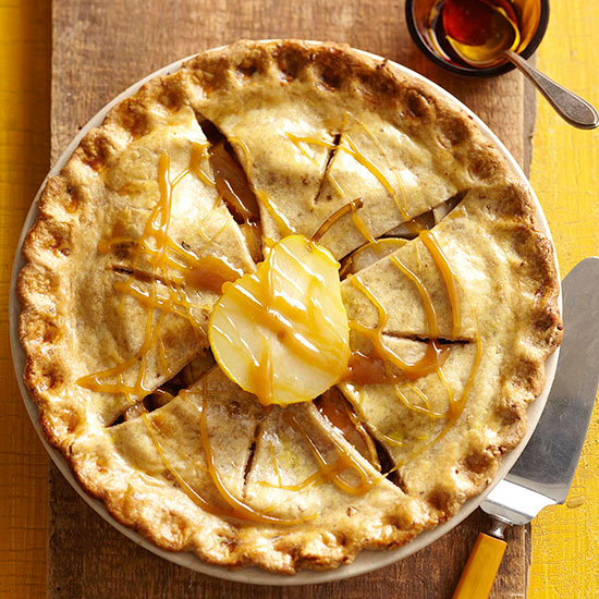 Autumn Maple Pear Pie