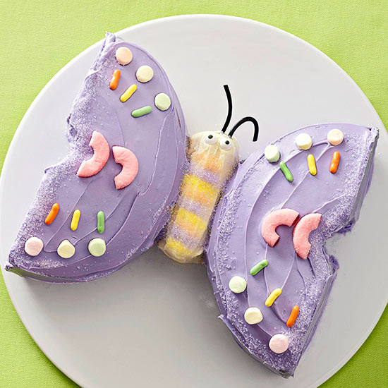 How To Decorate A Butterfly Cake