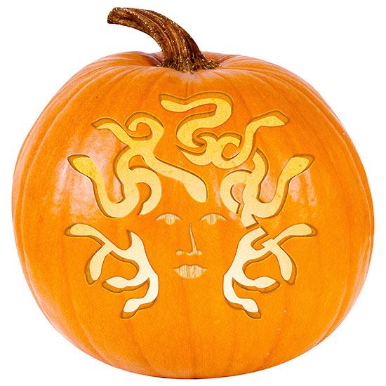 Medusa pumpkin stencil